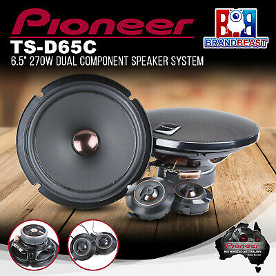 "AU248.09 • Buy Pioneer TS-D65C 270W 6.5"" 2-Way Component Speaker System"
