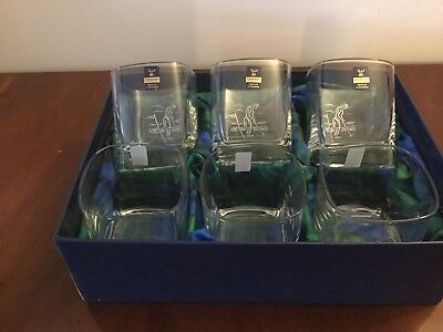 £38 • Buy Gleneagles Crystal The St Andrews Collection 6 Glasses  Female Golfer