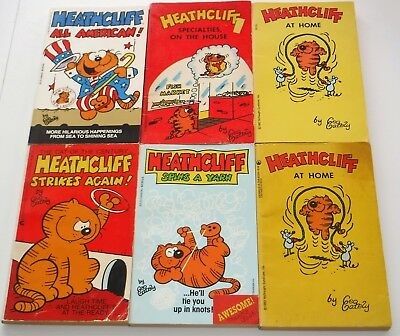 HEATHCLIFF Cat 80s Cartoon Comic Strip Fantasy Hat Jacket Tie Tack Lapel Pin