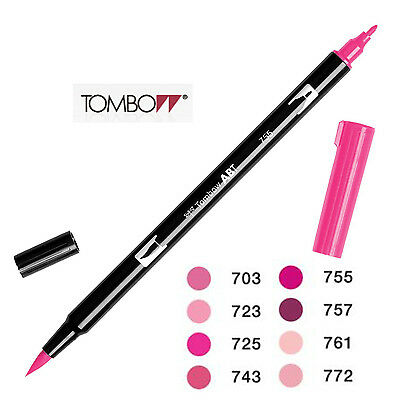 AU4.89 • Buy Tombow Dual Brush Pen: ABT 703 To 772  Red Violet Shade