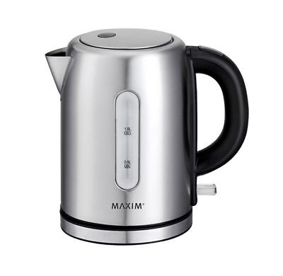 AU39.55 • Buy Maxim Kettle 1L Mini/Small/Compact Stainless Steel/Cordless/Docking Station