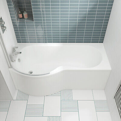 Nuie P-Shaped Shower Bath 1700mm X 700mm/850mm - Left Handed • 196.95£
