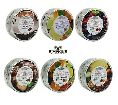 Simpkins SUGAR FREE Travel Sweets 175g Tin **PICK & MIX ANY 3** From 6 Varieties • 9.20£