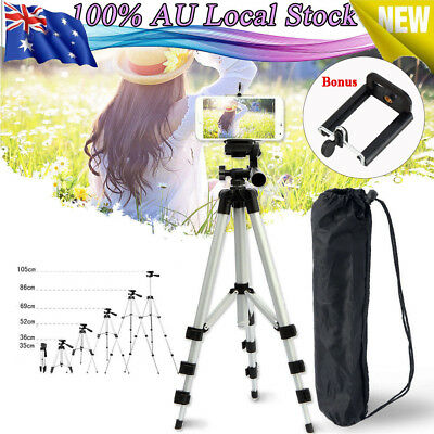 AU14.09 • Buy Camera Tripod Stand Holder For Universal Telescopic Phone IPhone AU