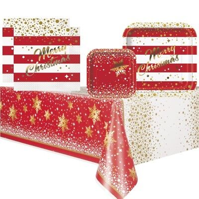 £2.99 • Buy Gold Sparkle Christmas Party Supplies Tableware (Cups Plates Napkins Tablecover)