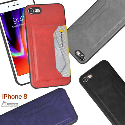 AU6.99 • Buy Side Pu Leather Card Holder Wallet Back Case Cover For IPhone 7 7 Plus 8 8 Plus
