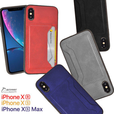 AU5.99 • Buy Side PU Leather Card Holder Wallet Back Case Cover For IPhone Xs Max / IPhone XR