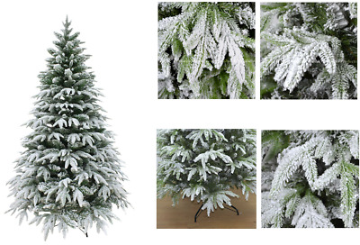 4ft 5ft 6ft 7ft 8ft 10ft Bushy Christmas Tree Flocking Snow Covered Decorations • 55.24£