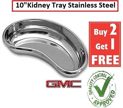 Kidney Dish Tray Shaped Curved Dish Basin Stainless Steel Tray Surgical 10  Inch • 5.99£
