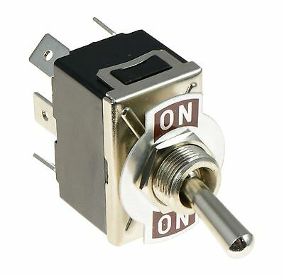 On-On Standard Toggle Switch DPDT 15A 250VAC • 2.39£
