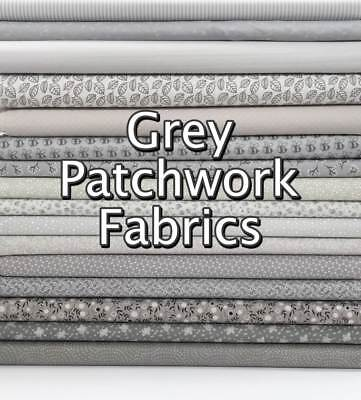 £2.20 • Buy Grey Cotton Fabric Silver Mixed Patterned Floral + Themed Patchwork Blender