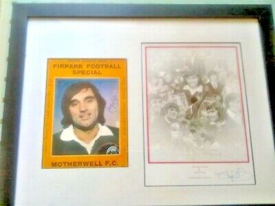 111 - Signed And Framed George Best Picture (yellow Frame) • 149.99£