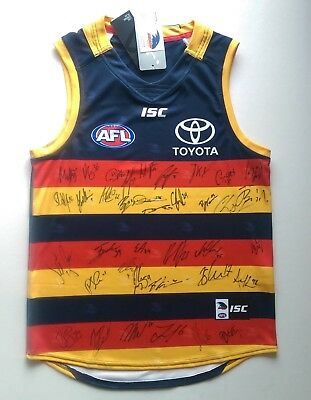AU590 • Buy Adelaide Crows Team Signed Licenced Afl Guernsey