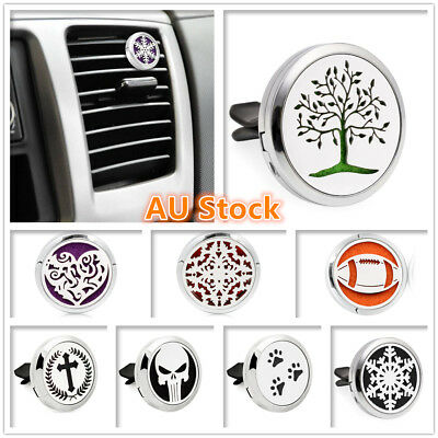 AU9.95 • Buy Car Air Freshener Vent Clip Metal Stainless Steel Fragrance Perfume Oil Diffuser