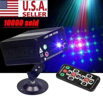 48 Pattern Laser Projector Stage Lights Mini LED RGB Lighting Party Disco DJ KTV • 26.99$