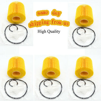 $12.92 • Buy 5PCS Oil Filter Kit Fits For Toyota Scion Lexus W/O-RING 04152-YZZA1 04152-31090