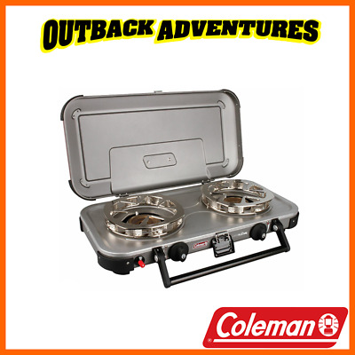 AU179 • Buy Coleman  Fyreknight Hyperflame 2 Burner Gas Camping Stove Camp Cooking New Model