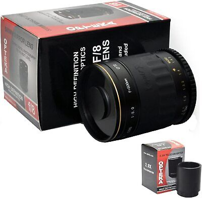 £317.17 • Buy Opteka 500 Mm/1000 Mm High Definition Mirror Telephoto Lens For Pentax