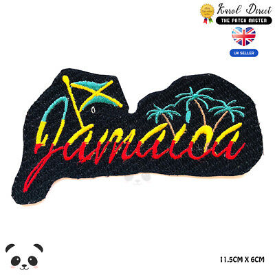 Jamaica Rasta Flag Embroidered Iron On Sew On Patch Badge For Clothes Etc • 1.99£