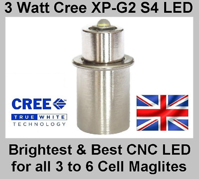 Maglite LED Upgrade TTS Conversion Cree XP-G2 Bulb For 3 4 5 6 D & C Cell Torch  • 12.95£