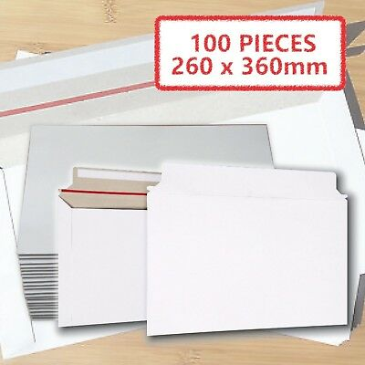 AU38.72 • Buy 100x Card Mailer  260 X 360mm B4 300gsm White Envelope Tough Bag Replacements