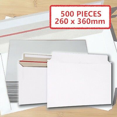 AU150.37 • Buy 500x Card Mailer #B4 260 X 360mm White 300gsm Envelope - Tough Bag Replacements