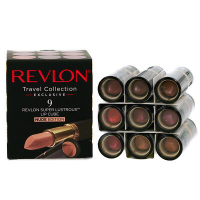 £15.99 • Buy Revlon Super Lustrous Nude Lipstick Set 9 Shades - Natural Pink Coral Brown New