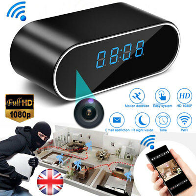 View Details HD 1080P Wireless Wifi Hidden Spy Security IP Camera Clock Motion Night Vision • 34.69£