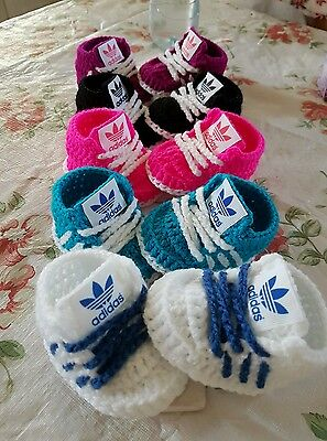 Handmade Crochet Baby Shoes For Baby Girls,boys From 3-6 Month(READ DESCRIPTION) • 6.49£