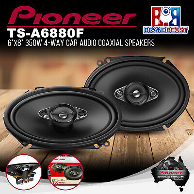 "AU98.22 • Buy Pioneer TS-A6880F 350W 6x8"" 4-Way Coaxial Speaker System"