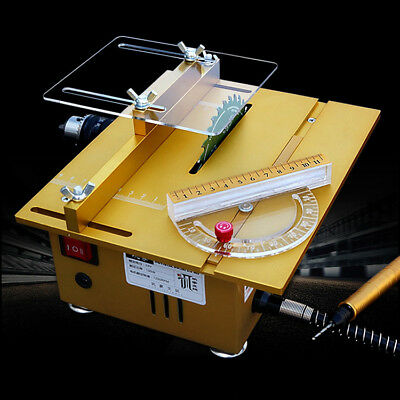 Mini Table Saw DIY Wood Cutting Machine Portable Woodworking Grinder • 129.99£