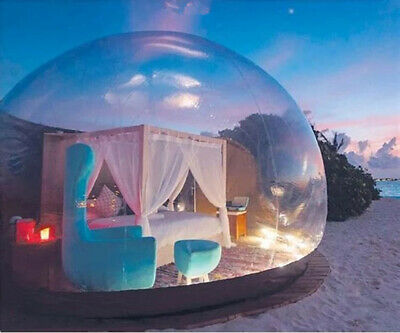 AU1235 • Buy 5M Inflatable Tent Outdoor Travel Camping Dome House Transparent Romantic Hotel