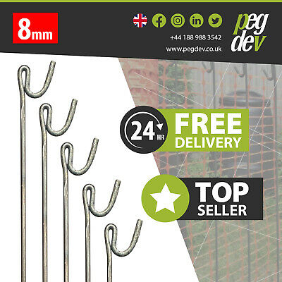 £28.35 • Buy METAL FENCING PINS PACKS 1300 X 8mm - Stakes Events Temporary Barrier Fence