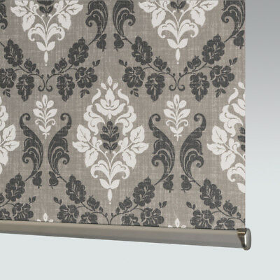 £33 • Buy  Made To Measure Patterned Dim-out Complete Roller Blind - Kensington Charcoal