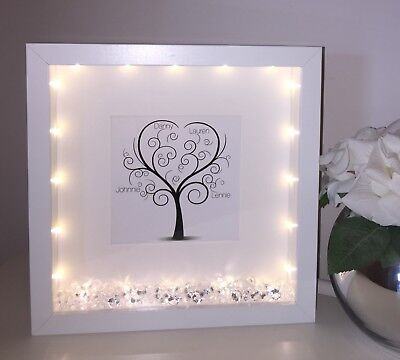 £21 • Buy Personalised Box Picture Frame Family Tree Gift Present