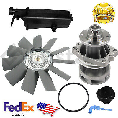 $90.33 • Buy Water Pump + Fan Clutch + Coolant Recovery Tank Fits BMW 5E36 E46 E53 E34 E39