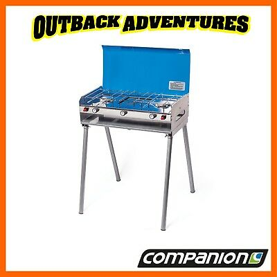 AU115 • Buy Companion Rv 2 Burner Gas Stove And Grill With Legs Camping Cooking Comp546