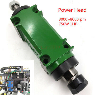 Spindle Unit Power Head 1HP 3000~8000rpm 5 Bearings Boring Milling Drilling Tool • 163.50£