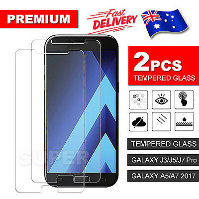 AU3.95 • Buy 2X 9H Tempered Glass Screen Protector For Samsung Galaxy A5 A7 2018 J3 J5 J7 Pro