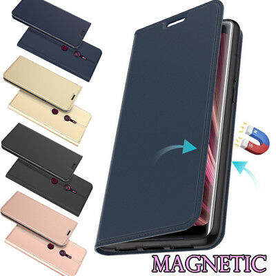 AU6.45 • Buy For Sony Xperia XA1 XA2 XZ3 XZ2 ZA1 XZ Magnetic Wallet Card Slot Flip Case Cover