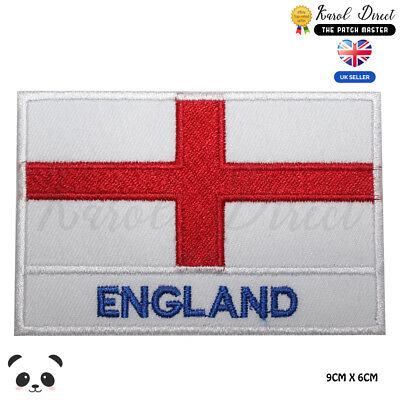 £1.99 • Buy England National Flag With Name Embroidered Iron On Sew On PatchBadge