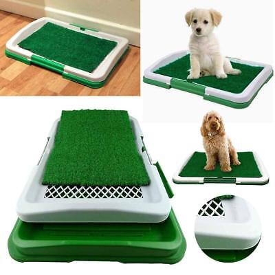 £11 • Buy PET Dog Toilet Mat Indoor Restroom Training Grass Potty Pad Loo Tray Large Puppy