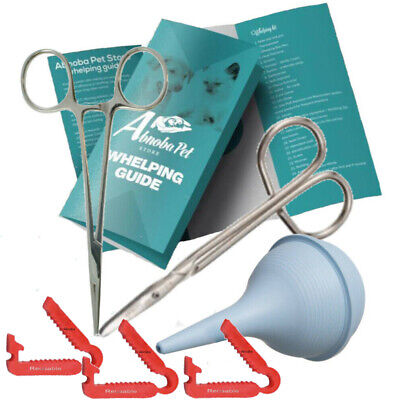 £10.99 • Buy Essential Puppy Kitten Whelping Kit Supplies Forceps Aspirator XS Cord Clamps