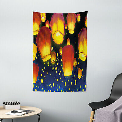 Lantern Tapestry Floating Fanoos Chinese Print Wall Hanging Decor • 24.16£