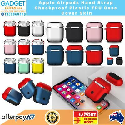 AU14.40 • Buy New Protective Shockproof Matte Abs Soft Case Cover With Strap For Airpod 1 2