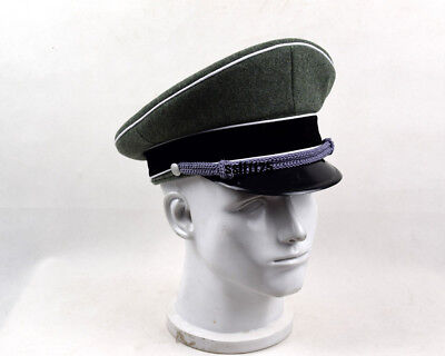 Collectable WWII German Elite Officer Hat Officer Army Cap 59 Cm  • 18.50£