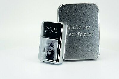 £9.89 • Buy Personalised Engraved Lighter - PHOTO/TEXT ENGRAVING