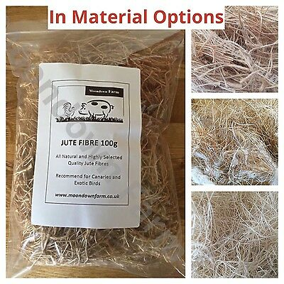 £6.45 • Buy Canary, Finch, Budgie Quality Cage Bird Nesting Material For Birds In OPTIONS