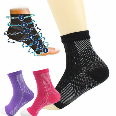 £1.80 • Buy Hot Compression Socks Foot Ankle Protection Sleeves For Cycling Hiking Tennis