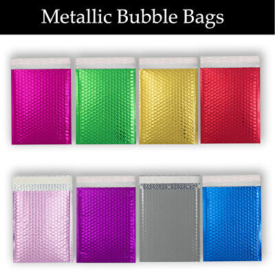 £33.99 • Buy Metallic Bubble Envelopes Mailer Padded All Size & Colored Bags Cheapest